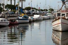 Fischerboote in Viareggio. stockbild