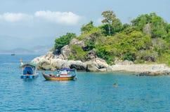 Fischerboote Vietnams Stockbild