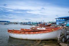 Fischerboothafen Lizenzfreie Stockfotografie