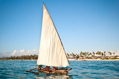 Fischerbootssegeln Stockfoto