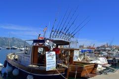 Fischerbootstangen Lizenzfreie Stockfotografie