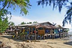 Fischerbretterbuden in Mook-Insel lizenzfreie stockfotografie