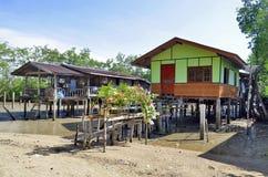 Fischerbretterbuden in Mook-Insel stockbild