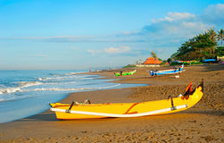 Fischerdorf auf Bali Lizenzfreies Stockfoto