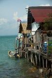 Fischerdorf auf Pulau Sibu, Malaysia stockbilder