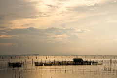 Fischerdorf in der Yor Insel. Stockfotos