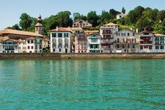 Fischerdorf im baskischen Land Lizenzfreies Stockfoto