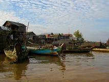 Fischerdorf in Kambodscha Lizenzfreie Stockbilder