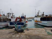 Fischerdorf in Malta lizenzfreies stockbild