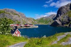 Fischerdorf Nusfjord lizenzfreies stockbild