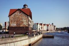 Fischerdorf, Stadt Kaliningrad (bis 1946 Koenigsberg) Russland Lizenzfreie Stockfotos