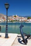 Fischerdorf von Galaxidi in Griechenland Stockbild