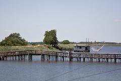 Fischerei auf dem Fluss Stockfotos
