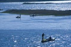 Fischerei auf dem Nil Lizenzfreies Stockfoto