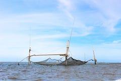 Fischerei auf dem See Stockfotografie