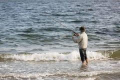 Fischerei auf dem Strand Lizenzfreies Stockbild