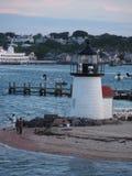 Fischerei bei Brant Point Light Stockfoto