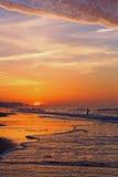 Fischerei bei Sonnenaufgang Lizenzfreies Stockbild