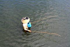 Fischerei in Birma, Myanmar Stockbilder