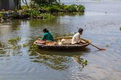 Fischerei in das Stauwasser Stockfotos