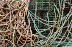 Fischerei der Fallen Stockfoto