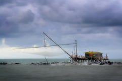Fischerei der hölzernen Struktur Stockfotos