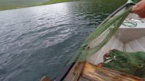 Fischerei in der Landschaft stock video footage