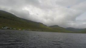 Fischerei in der Landschaft stock footage