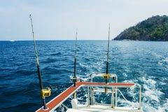 Fischerei des Mit der Schleppangel fischens Stockbild