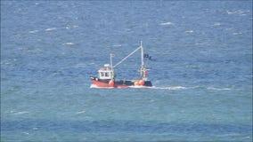 Fischerei des Schlepperbootes stock video footage