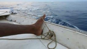 Fischerei durch Fuß stock footage