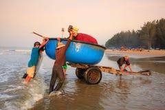 Fischerei für einen neuen Tag Stockfoto