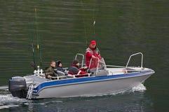 Fischerei-Familie Lizenzfreies Stockfoto