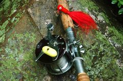 Fischerei-Gerät lizenzfreie stockfotografie