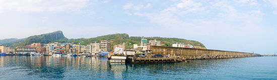 Fischerei-Hafen in der Stadt Wanli, Taiwan Lizenzfreies Stockbild