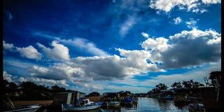 Fischerei-Hafen Liopetri Zypern (4k ( stock video