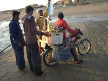 Fischerei in Hengam-Insel, der Iran Lizenzfreies Stockbild