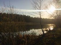 Fischerei im Fluss Lizenzfreies Stockbild