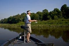 Fischerei im Fluss Stockbilder
