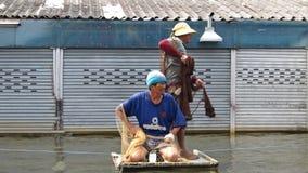 Fischerei im Flut-Wasser 2 Stockfotos