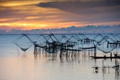 Fischerei im Meer Stockfotografie