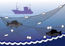 Fischerei im Meer Lizenzfreie Stockfotos
