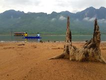 Fischerei im See Stockfoto