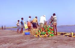 Fischerei in Indien Stockbilder