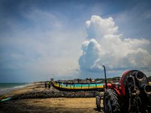Fischerei in Kokilai u. in x28; Eine Insel in Sri Lanka u. in x29; Stockfotografie