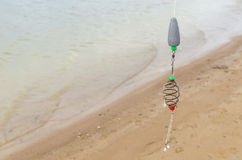 Fischerei am See Lizenzfreies Stockfoto