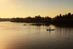 Fischerei in Thu Bon-Fluss, Quang Nam, Vietnam Stockfoto