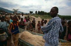 Fischerei in Uganda Lizenzfreie Stockfotos