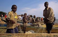 Fischerei in Uganda Lizenzfreies Stockbild