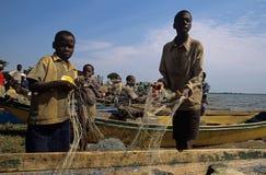 Fischerei in Uganda Stockbild